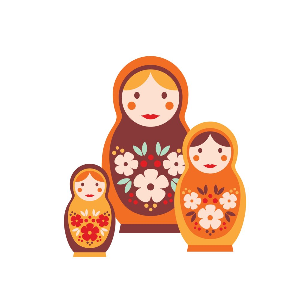 Protection des données (RGPD) en pratique: les poupées russes illustrent la méthode la plus efficace pour créer une liste des traitements de données.